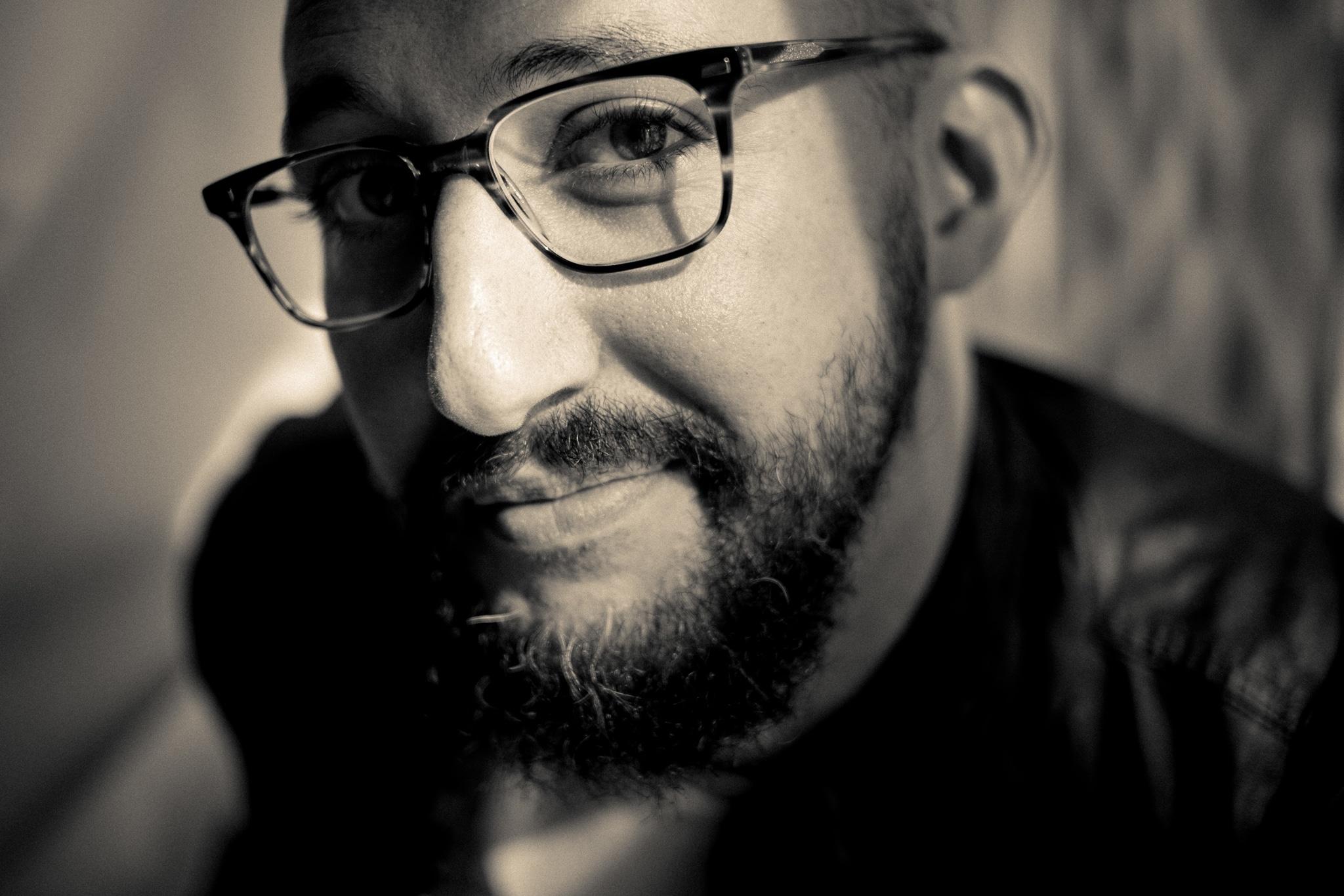 Matt closeup  with glasses