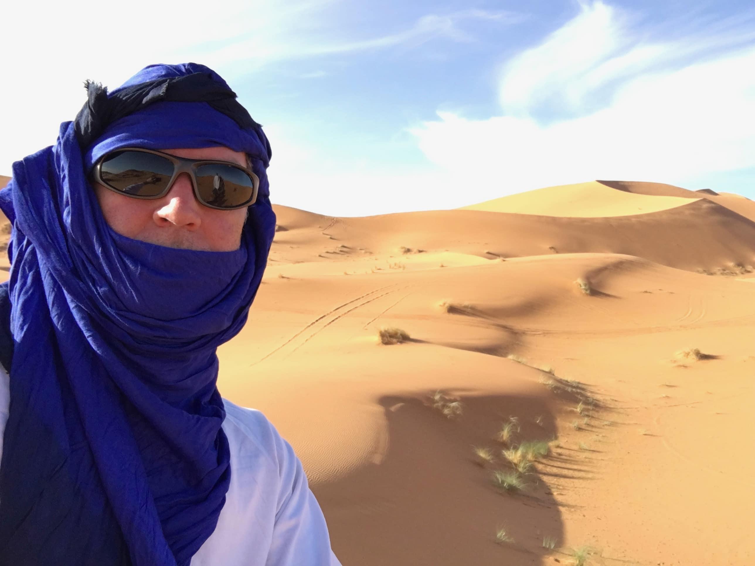 Somewhere in the Saharan desert